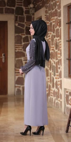 Nefes Elbise |Gri
